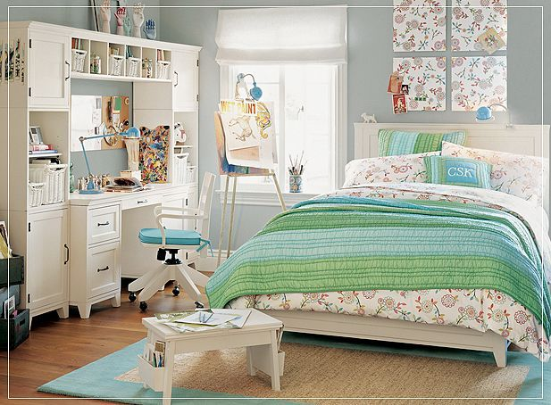 Interior Perfect Teenage Girl Bedroom perfect teen bedroom for girls with green and white combination
