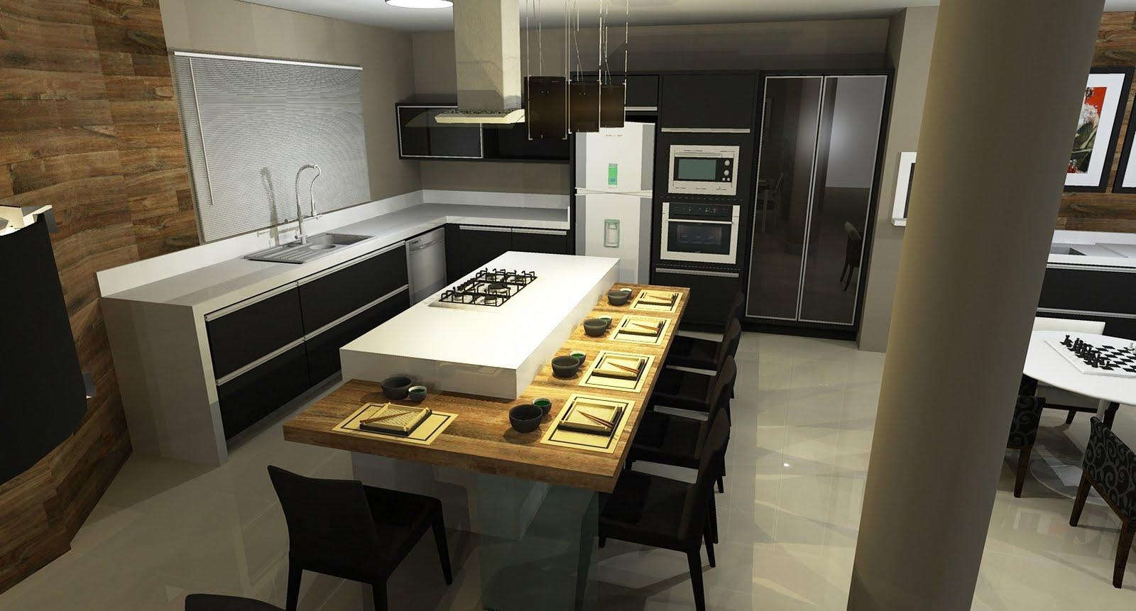 Sekai Projetos e Interiores: Área de festas e cozinha integradas  #947137 1600 861