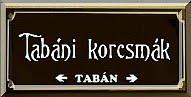 TABÁN KOCSMÁK,VENDÉGLŐK