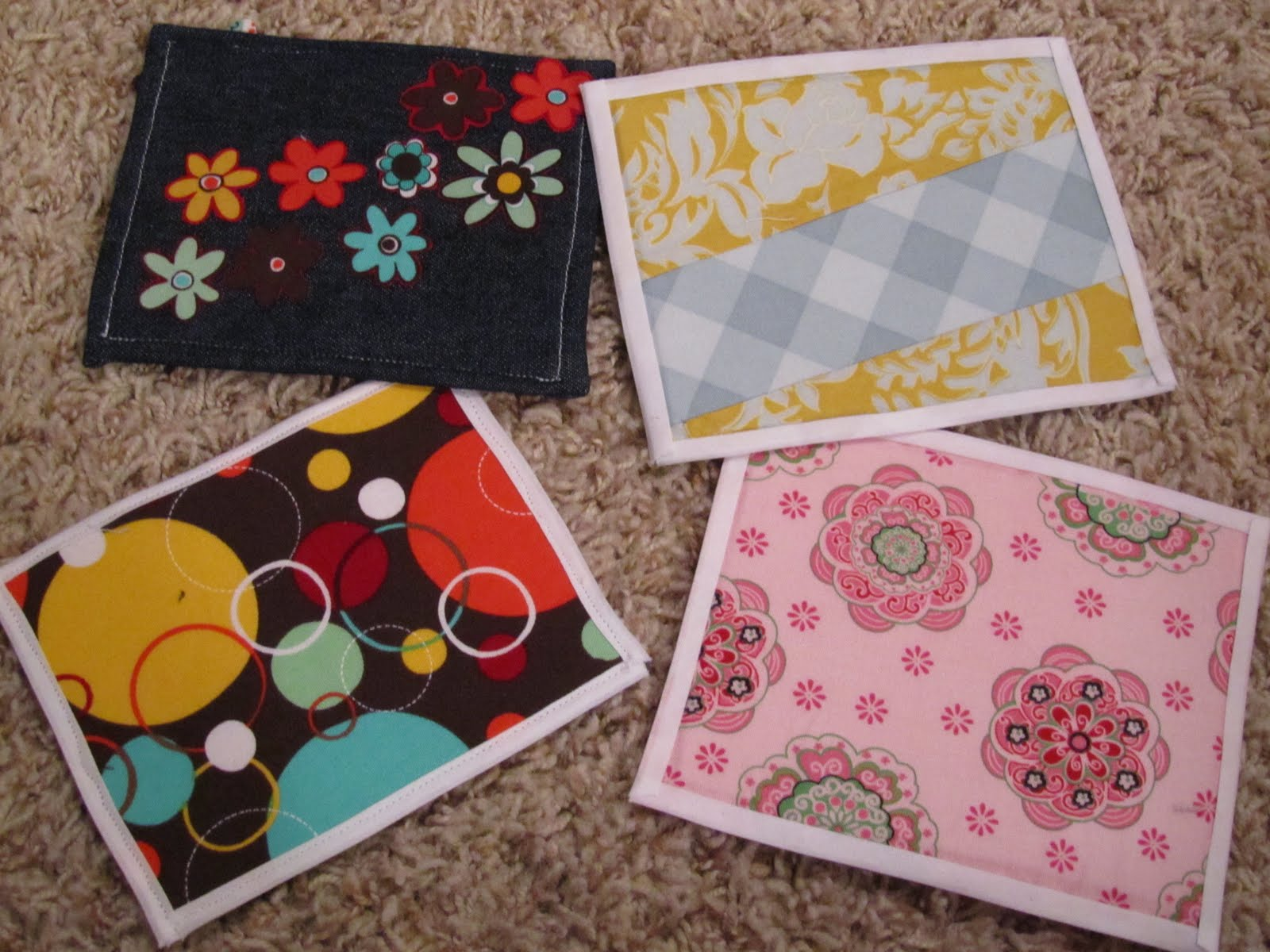 Twelve crafts till christmas make it no sew fabric postcards for Fabric crafts to make
