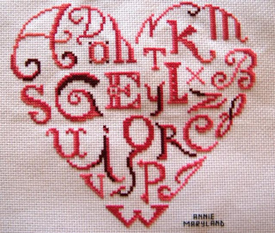 S Alphabet In Heart Images Alphabet In Heart This is a plain old 14 count