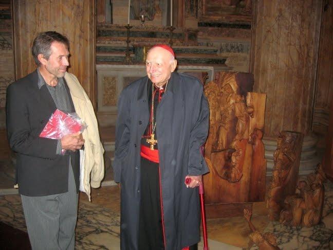 V Pantheonu v Římě s kardinálem Tomášem Špidlíkem v prosinci 2009