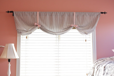 valance with a ribbon