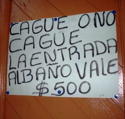 Cague o no cague, la entrada al baño vale $ 500