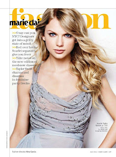 Taylor Swift Appear Beautiful in Marie Claire Magazine Cover Model Photoshoot Session