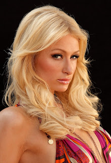 Paris Hilton in Fabulous Purple Halter Dress Fashion Model Photoshoot Session at Thompson Hotel