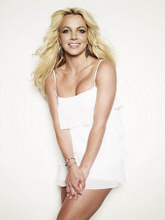 Britney Spears wears a gorgeous light white layered tank mini dress in Pretty Fashionable Women Model Photoshoot Session