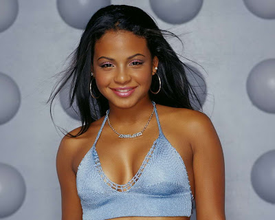 Christina Milian in Sexy Blue Casual Fashion Style Model Photo Shoot Session