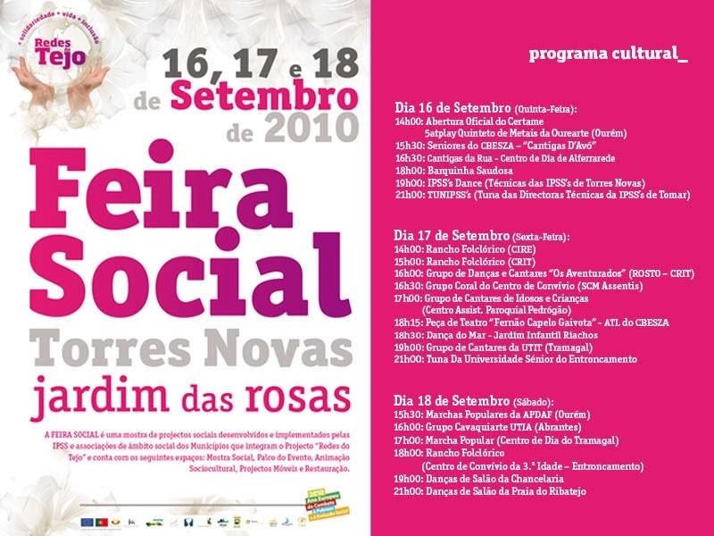 UCATN TORRES NOVAS  Jardim das Rosas vai acolher a 1ª Feira Social