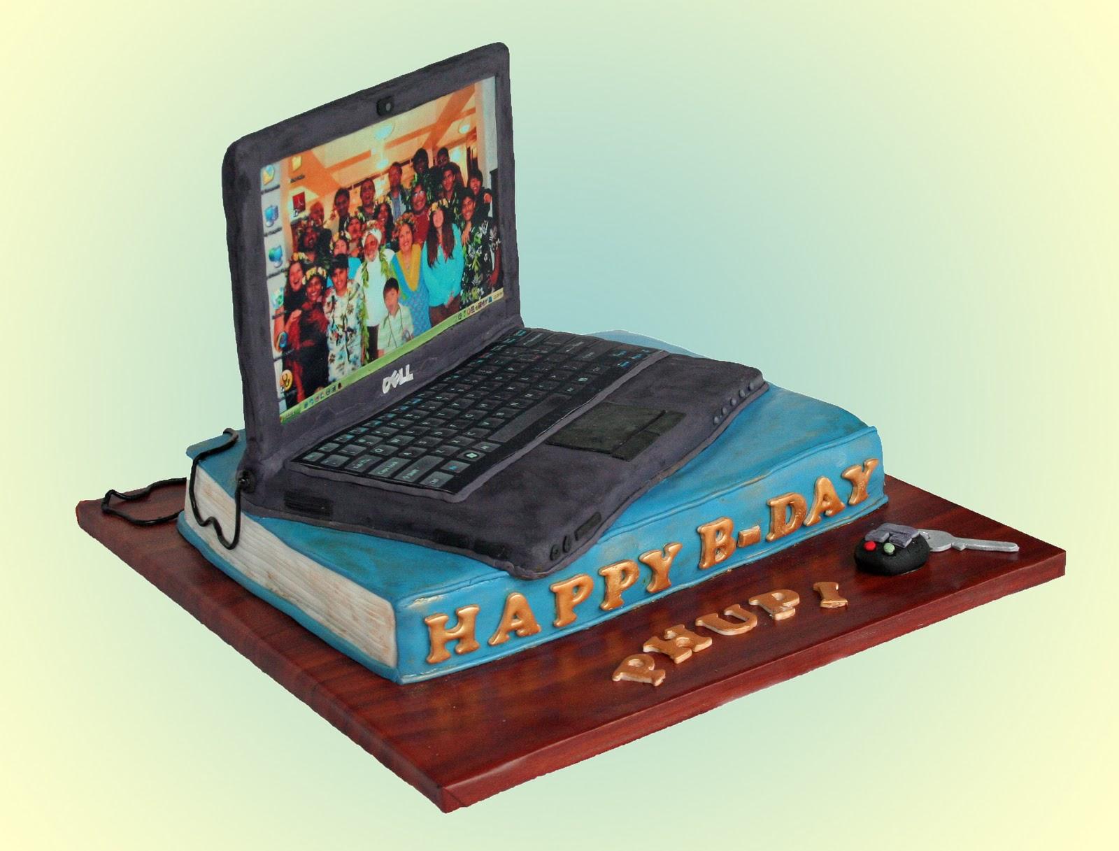 Cake Laptop Designs : For Cake s Sake by Camila Renault: Laptop Cake - 50th Birthday