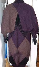 ISSEY MIYAKE Vintage Purple Sweater Cocoon Coat