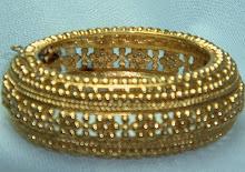 Wide Golden Bangle