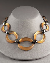 Alexis Bittar tinted lucite necklace