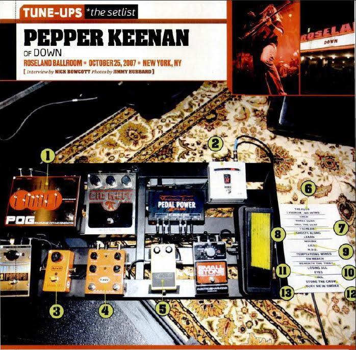 Pepper Keenan pedalboard