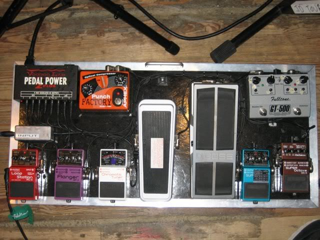 Miles Mosley Pedalboard