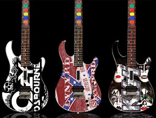 Rockstar painted guitar