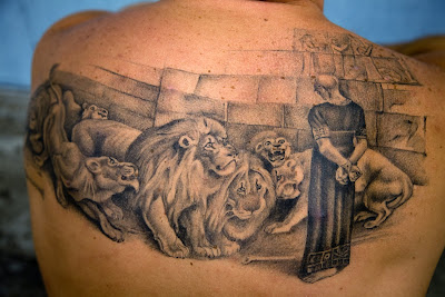 Daniel And The Lions Den Tattoo