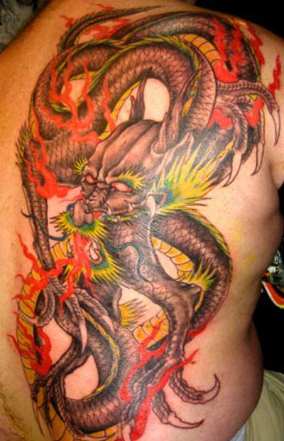 tatouage de dragon tribal - Dragon Tribal Ban