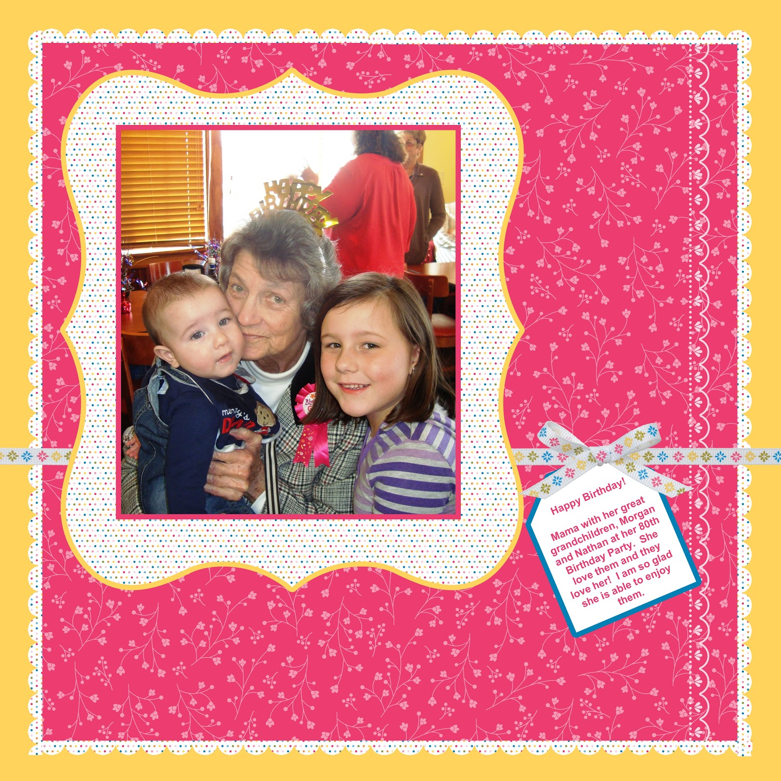 Stampin For Me Happy Birthday Mom Layout 1