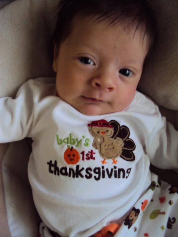 Nate's 1st Thanksgiving!