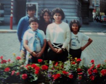 Participantes de la Asamblea Internacional de Niños Bandera de la Paz, Sofia 1985