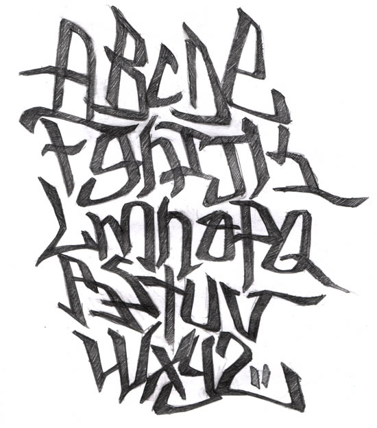 Graffiti Alphabet A-Z