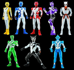 Todos los power rangers furia animal.