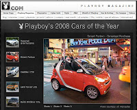 2008 smart one of Playboy's 2008 Cars of the Year