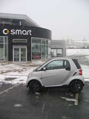 smart forfiveone in the snow
