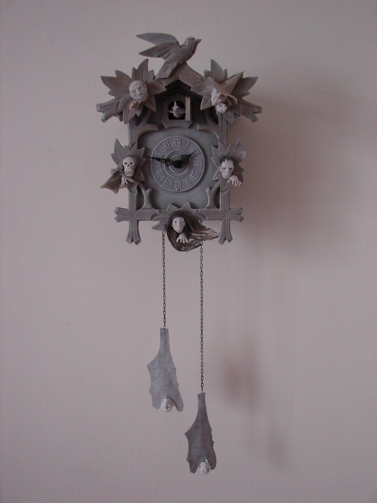 halloween cuckoo clock by pat benedict