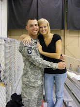 My hubby and I at his Welcome Home Ceremoney