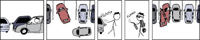 estacionamento, raiva, vaga, balisa, garagem
