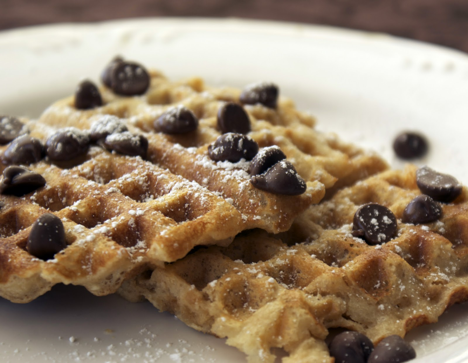 Peanut Butter Waffles Recipe — Dishmaps