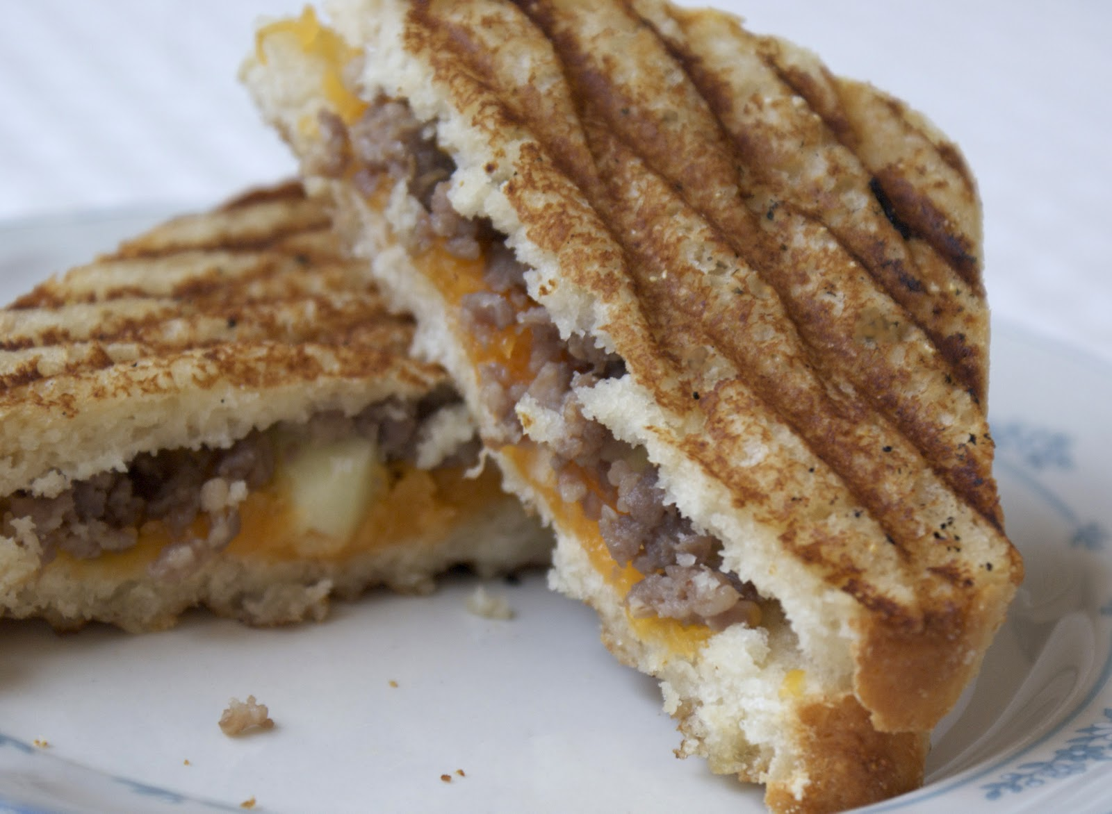 Sausage Breakfast Panini ~ Heat Oven to 350