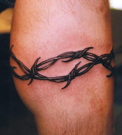 barbed wire tattoos also called razor wire tattoos are very common as ...