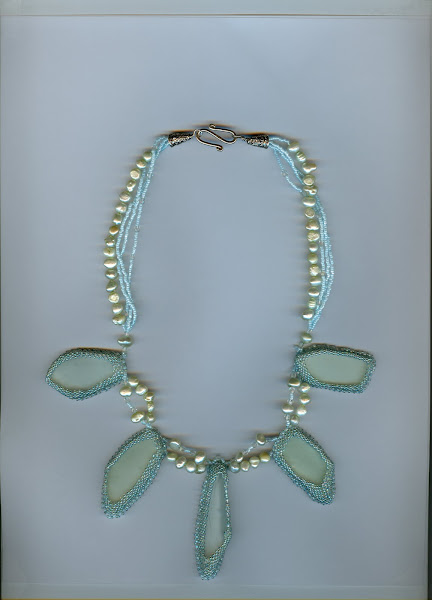 Lt turquoise color beach glass