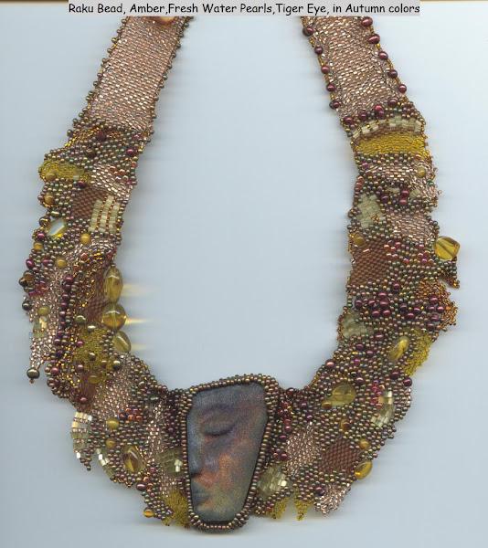 African Dream with Hand Made Raku Bead
