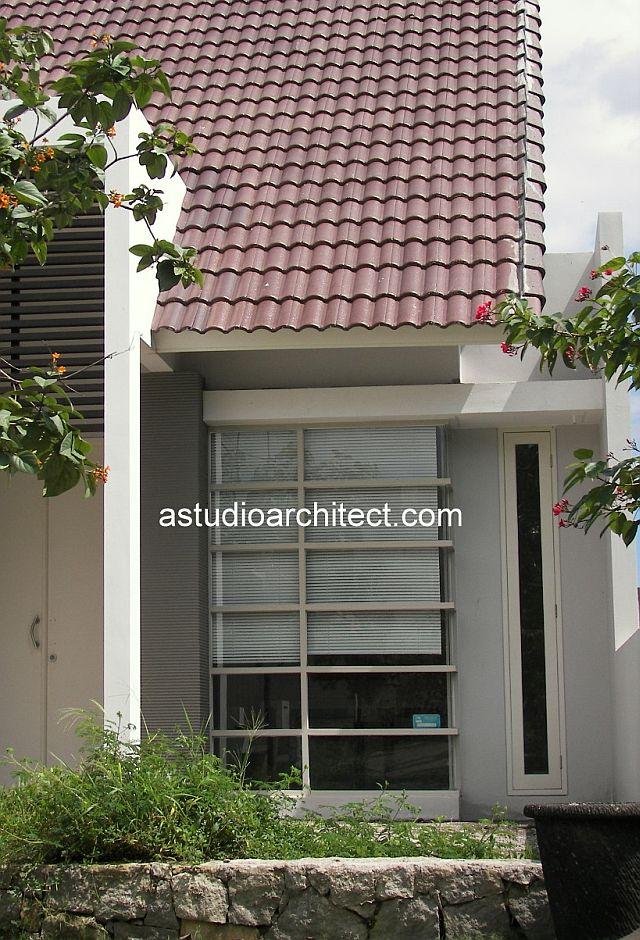 desain eksterior dan interior rumah dengan tema warna putih