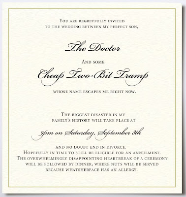 funny wedding invitations. Anaphylaxis Ain#39;t Funny