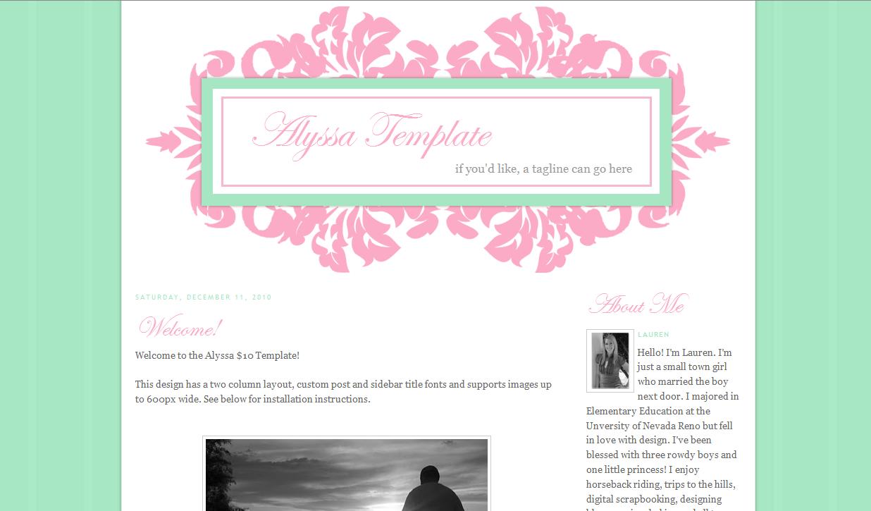 Alyssa Blog Template