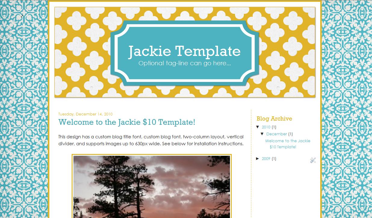 Jackie Blog Template