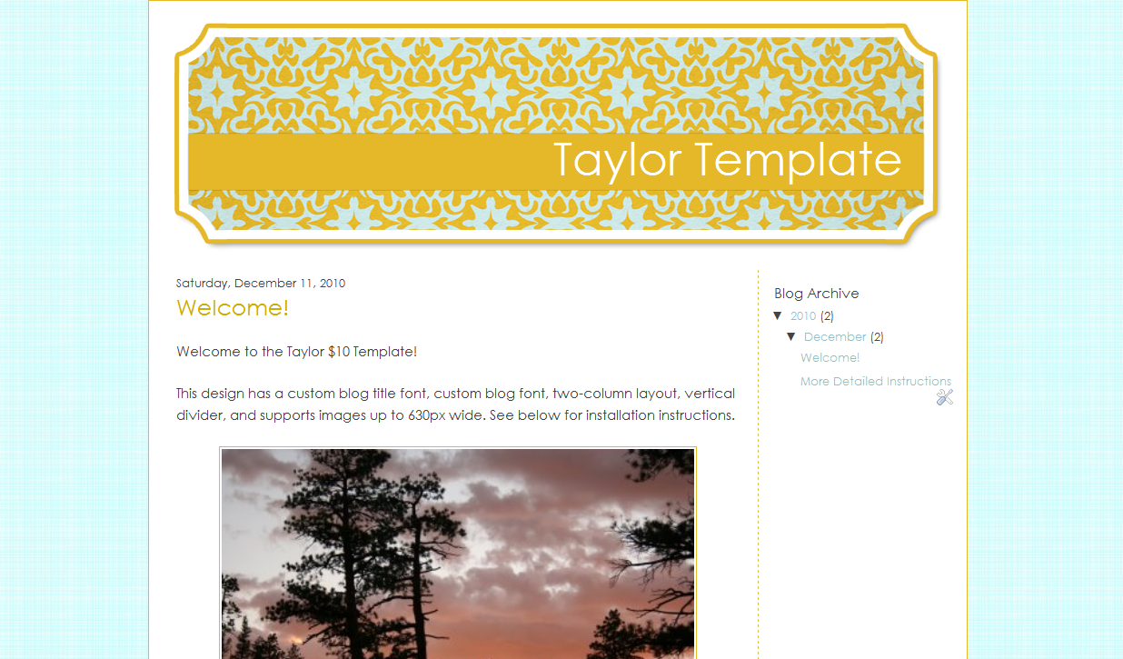 Taylor Blog Template