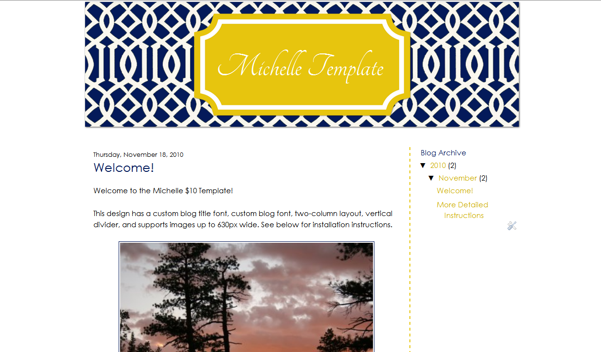 Michelle Blog Template