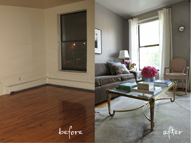 Alex m lynch before and after room makeovers for Living room makeovers before and after uk