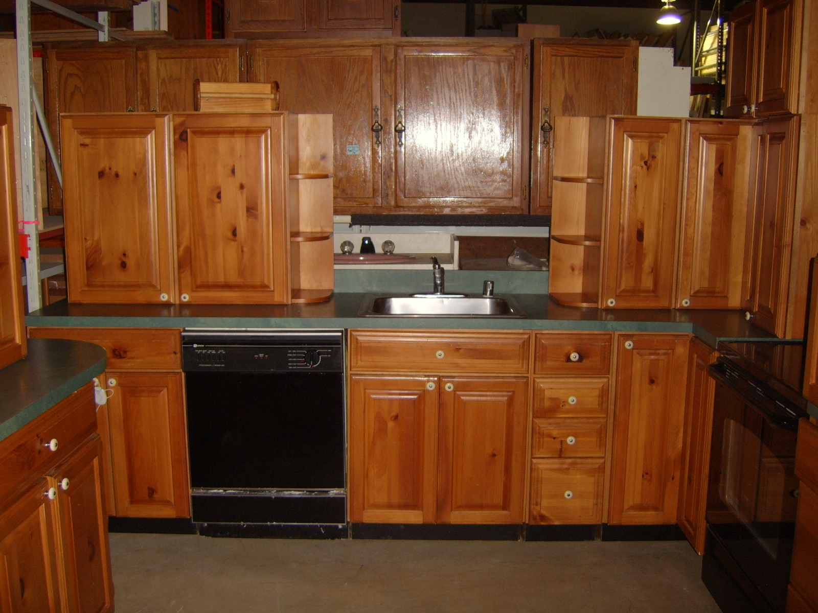 Kitchen with Pine Cabinets