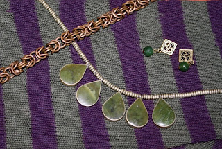 Jewelry, accessories, closeup, Celtic knot earrings, necklace, chain