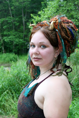 faerie fashion, silkcloque halter, hair falls