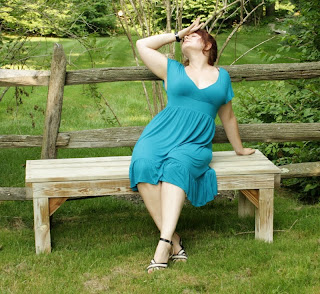 fainting blogger, sundress, heatstroke