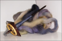 Josie roving and spindle
