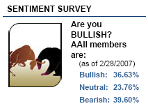 investor sentiment table February 28, 2007